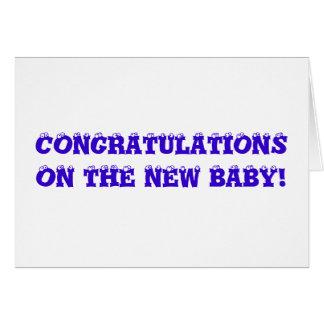 Funny Baby Shower Card - Congratulations + Mailman