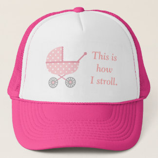 Funny Baby Stroller For Mommy To Be Cap