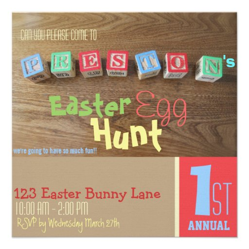 Funny Baby's First Easter Egg Hunt Invitation