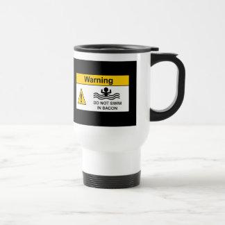 Funny Bacon Warning Travel Mug