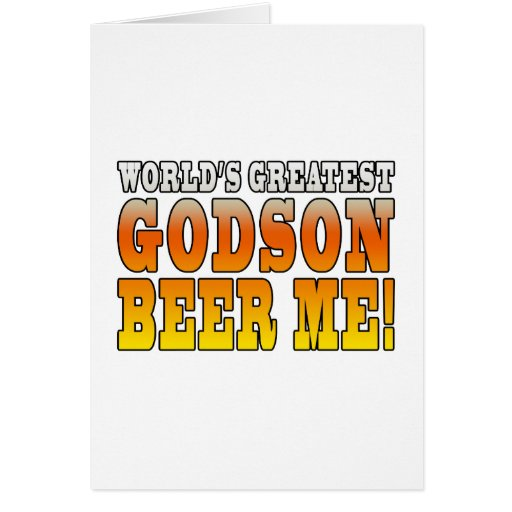 Funny Baptisms Birthdays Worlds Greatest Godson Cards