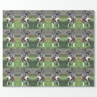 Funny Beagle Dance Wrapping Paper