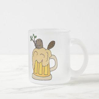 Funny Beaver in Beer Mug