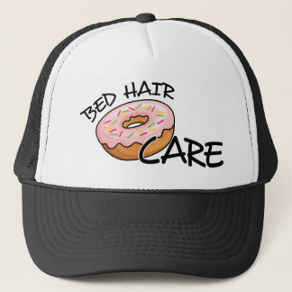 Funny Bed Hair Don't Care | Foodie Humor Donut Trucker Hat