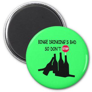 Funny Beer 6 Cm Round Magnet