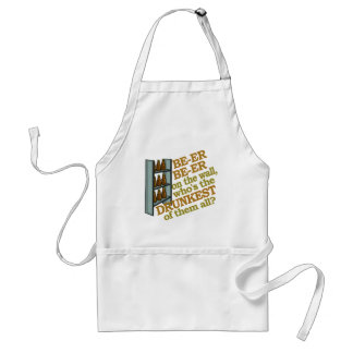 Funny Beer on the Wall Standard Apron