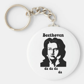 Funny Beethoven Basic Round Button Key Ring