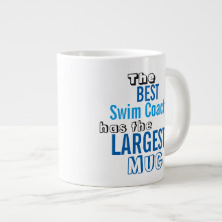 Funny Best SWIM COACH Big Mug Coaching Quote Jumbo Mug