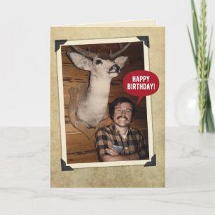 Funny Big Buck Birthday Card