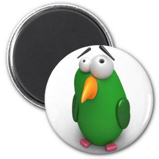 Funny Bird 6 Cm Round Magnet