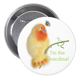 Funny bird Baby Shower button by BabyLaia.