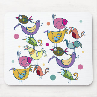 Funny birds mouse pad