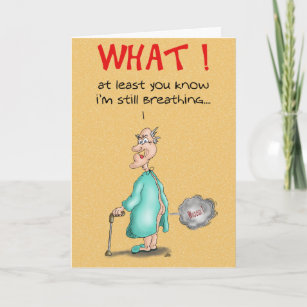 Funny Birthday Cards Old Fart Card