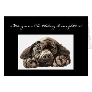 Funny Birthday Daughter, Labrador Retriever Card