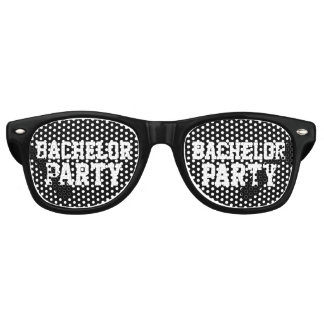 Funny black bachelor party shades sunglasses