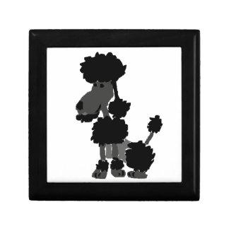 Funny Black Poodle Art Original Gift Box