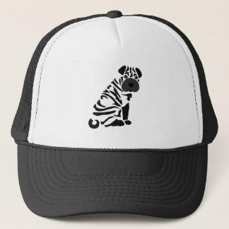 Funny Black Shar Pei Dog Abstract Art Trucker Hat