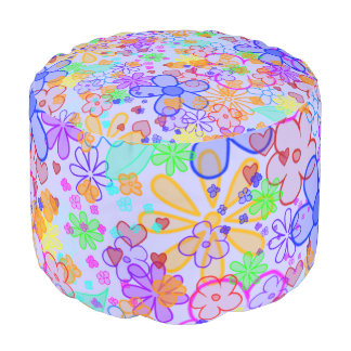 funny blooms pattern + your background pouf