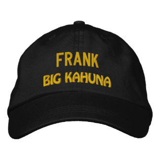 Funny BOSS Big Kahuna Hat with Custom Name V18 Embroidered Hats