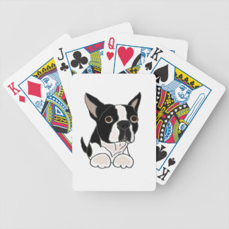 Funny Boston Terrier Puppy Dog Art Bicycle Playing Cards