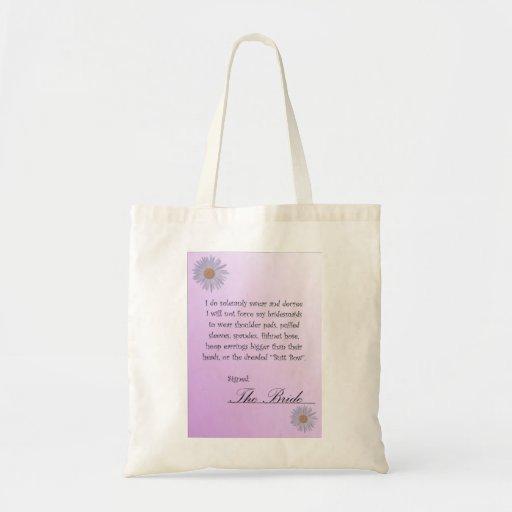 Funny Bridesmaid Contract Tote Bag