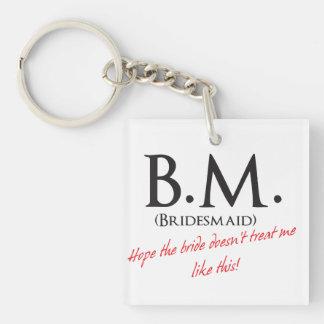 Funny Bridesmaid Key Ring