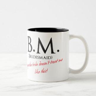 Funny Bridesmaid Two-Tone Mug