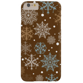 Funny Brown Snowflakes Pattern Barely There iPhone 6 Plus Case