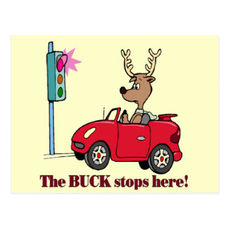 Funny Buck Stops Here T-shirts Gifts Postcard