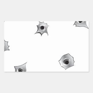Funny Bullet Holes Rectangular Sticker