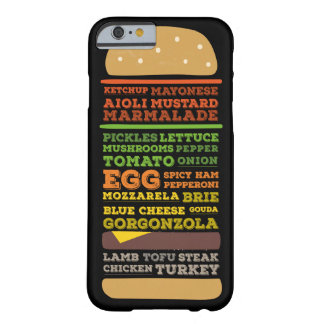 Funny Burger Design Barely There iPhone 6 Case