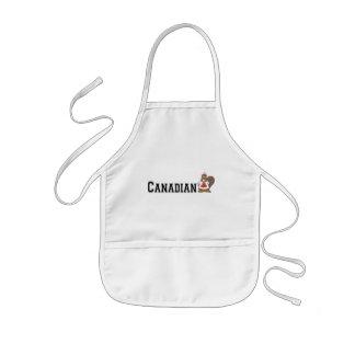 Funny Canadian Beaver Kids Apron