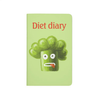 Funny Cartoon Broccoli Diet Diary Journal