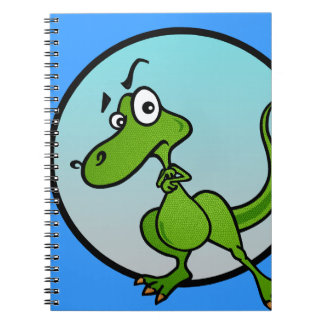 FUNNY CARTOON DINOSAUR SPIRAL NOTEBOOK