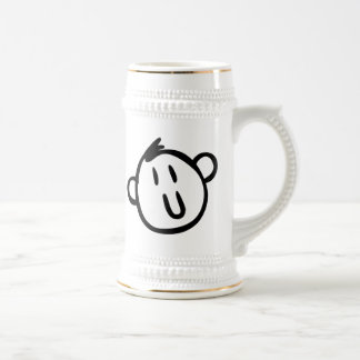 Funny Cartoon Face Beer Steins