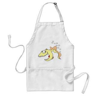 Funny Cartoon Fish Kitchen Apron