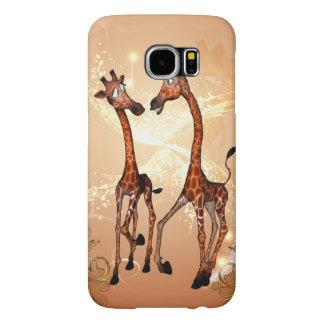 Funny cartoon giraffes samsung galaxy s6 cases