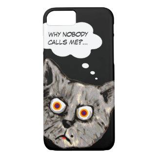 funny cat cartoon black iPhone 7 case