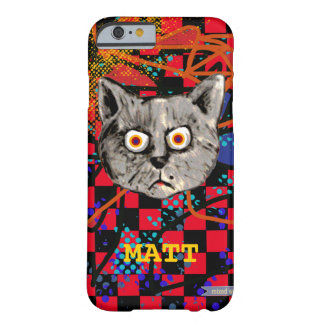 funny cat face personalized barely there iPhone 6 case