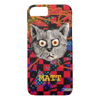 funny cat face personalized iPhone 7 case