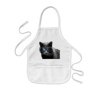 funny cat kids apron