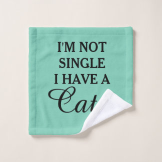Funny Cat Lady Humorous Quote Wash Cloth