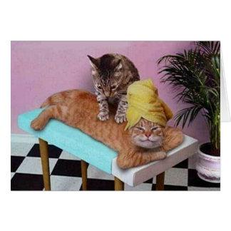Funny Cat Massage Card