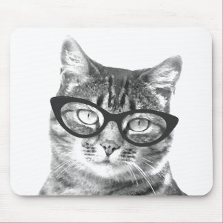 Funny cat photograph mouse pad design