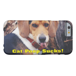 Funny Cat Poop Sucks Dog Sticking Tongue Out Barely There iPhone 6 Case