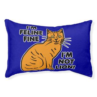 Funny Cat Pun Orange Kitty Feline Fine