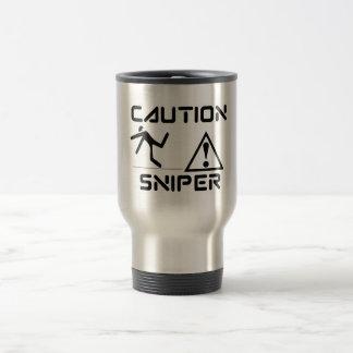 Funny Caution Sniper Travel Mug