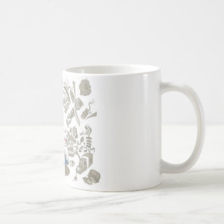 Funny characters design coffee mug