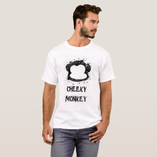 Funny Cheeky Monkey with Paint Splatter T-Shirt