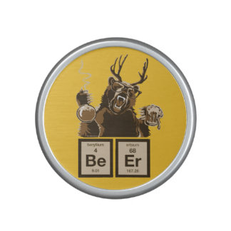 Funny chemistry bear discovered beer bluetooth speaker